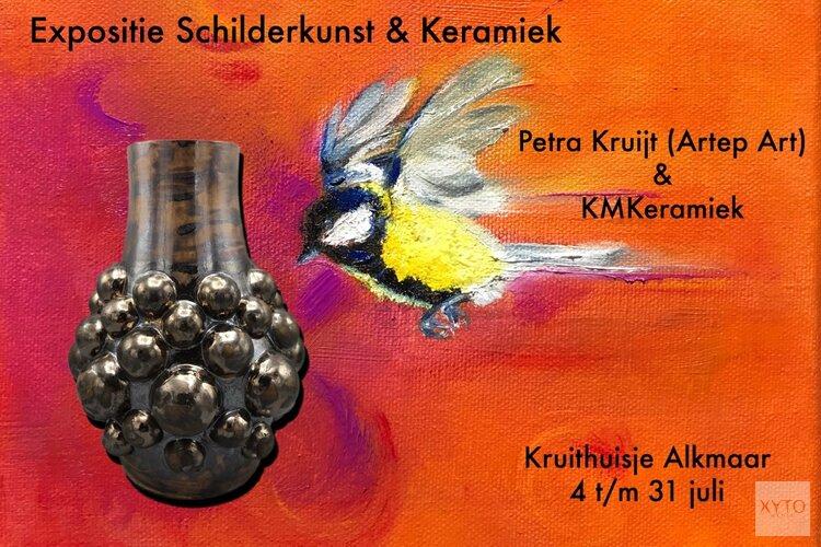 Expositie Petra Kruijt (Artep Art) en KMKeramiek Kruithuisje