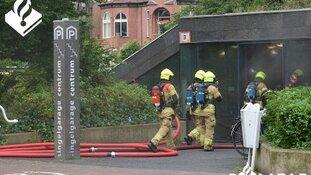 Getuigen gezocht van brand in parkeergarage