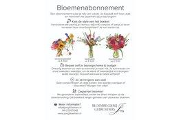 Kies voor een bloemenabonnement bij Bloembinderij Gebr. Jong, dé bloemist in Alkmaar en Heerhugowaard