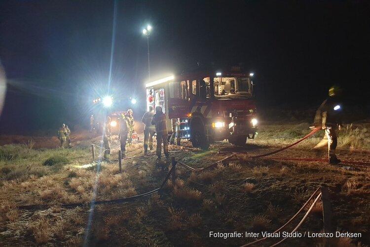 Brandweer uren bezig met duinbrand in Bergen aan Zee