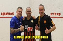 Eerste officiële soccersquash ranking toernooi in Alkmaar