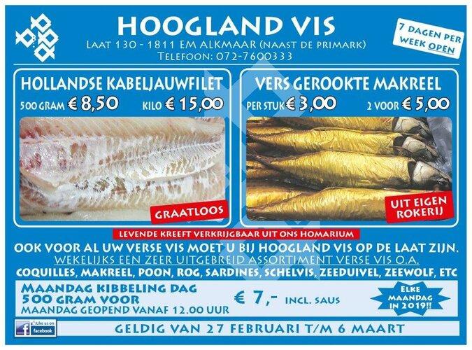 Weekaanbieding bij Hoogland Vis (Laat 130)