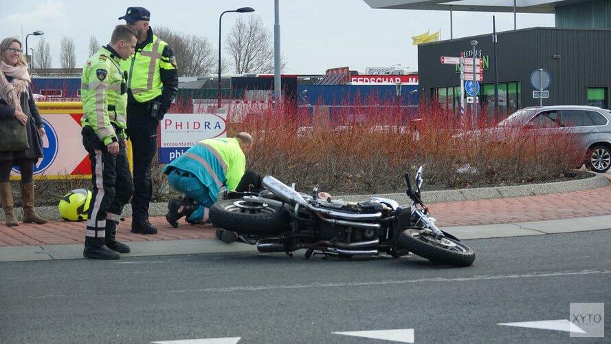 Motorrijder komt ten val
