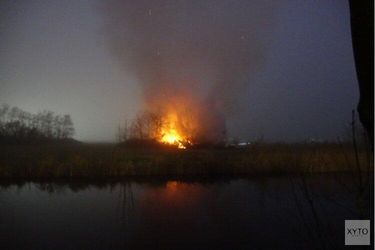 Felle brand verwoest schuur