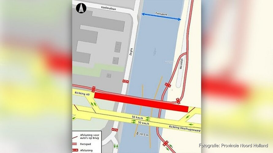 Pont Leeghwaterbrug in Alkmaar verplaatst na zorgen om veiligheid