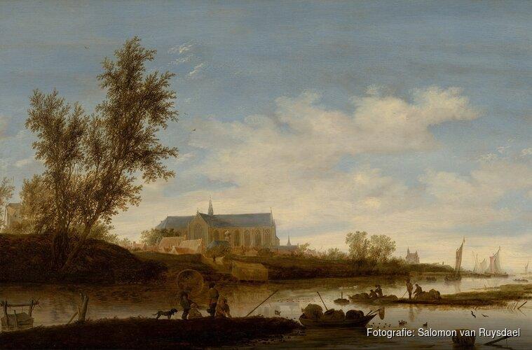 De Grote Kerk door meester-schilders Saenredam en Ruysdael