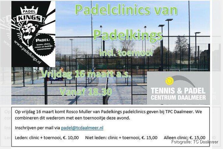 Padelclinics Padelkings bij TC Daalmeer