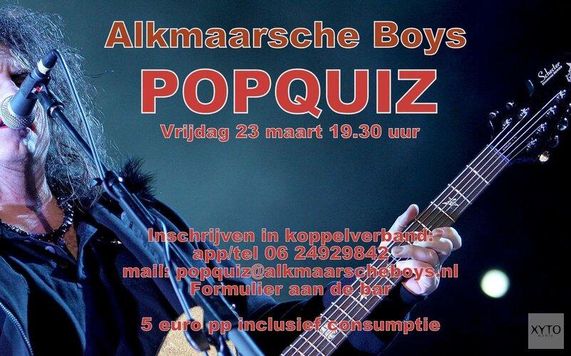 Vrijdag 23 maart popquiz bij Alkmaarsche Boys